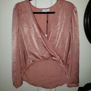 NSR wrap style long sleeve blouse